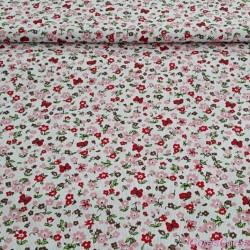 Pique estampado Pol/Alg 65/35% 160 cm 72447/01 Flor roja